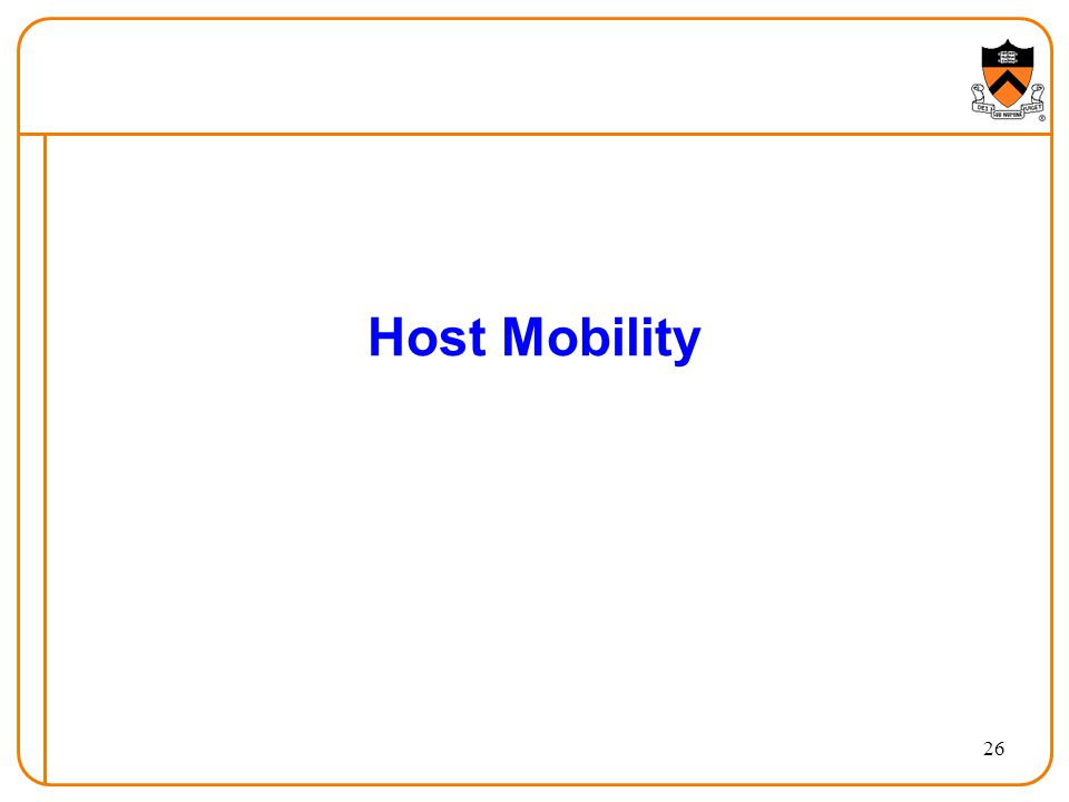 26 Host Mobility