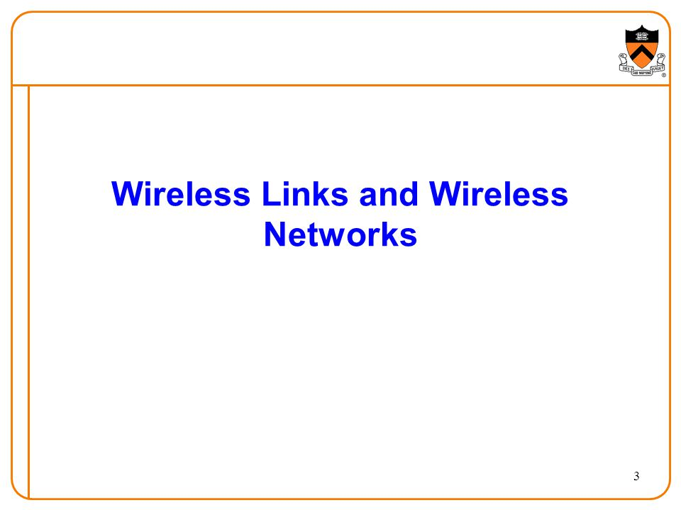 14 Wireless Network: Infrastructure network infrastructure Network infrastructure Larger network with which a wireless host wants to communicate Typically a wired network Provides traditional network services May not always exist