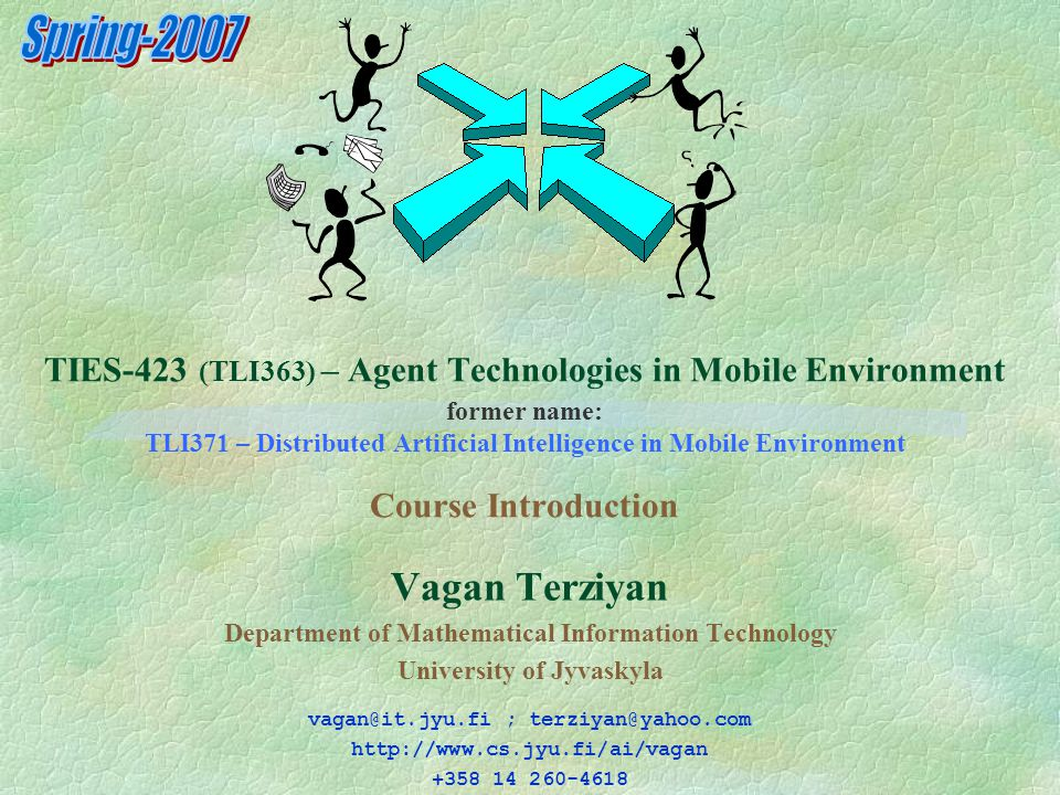 42 Lectures 3-4: Agent Technologies (Mobility, Communication, Coordination, Negotiation) http://www.cs.jyu.fi/ai/vagan/Agent_Technologies.ppt