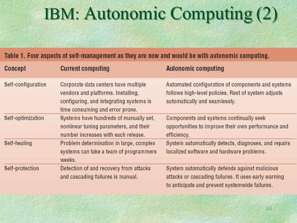 10 IBM: Autonomic Computing (2)