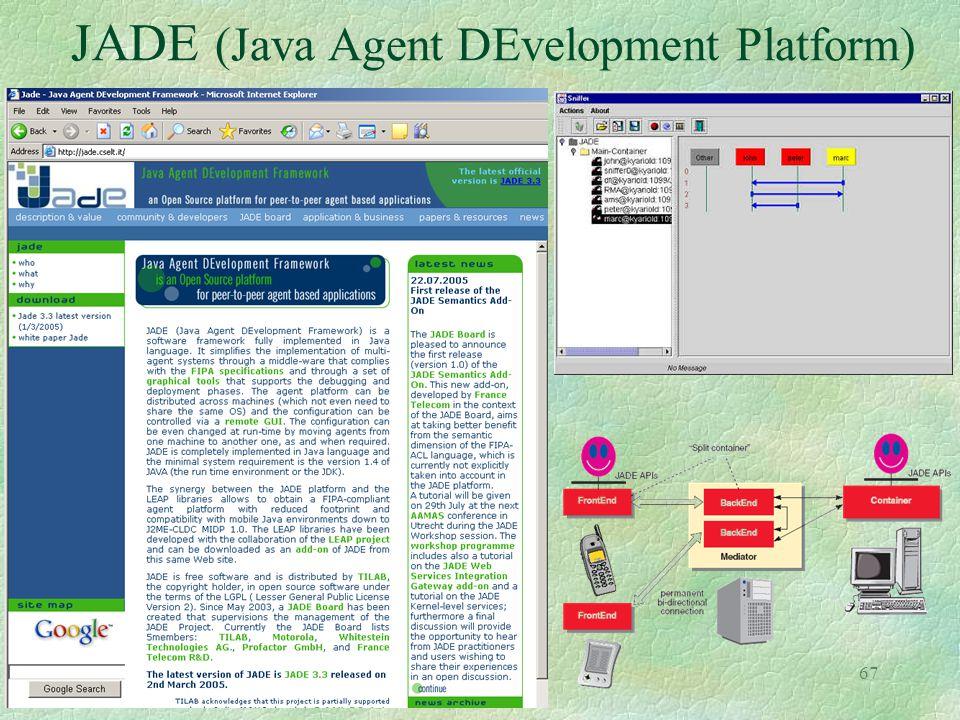 67 JADE (Java Agent DEvelopment Platform)