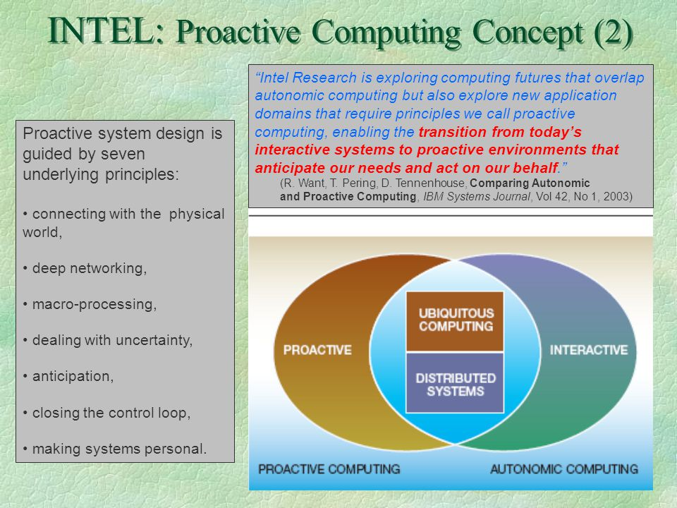 9 IBM: Autonomic Computing (1) §The computing domain is now a vast and diverse matrix of complex software, hardware and services.