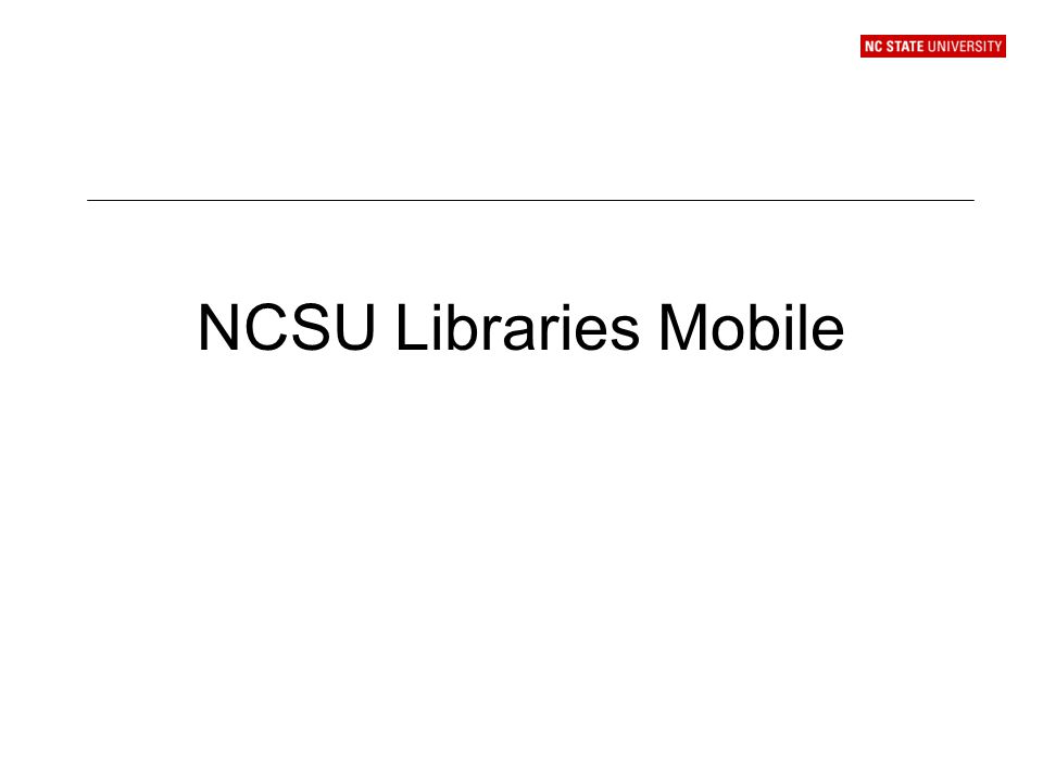 NCSU Libraries Mobile