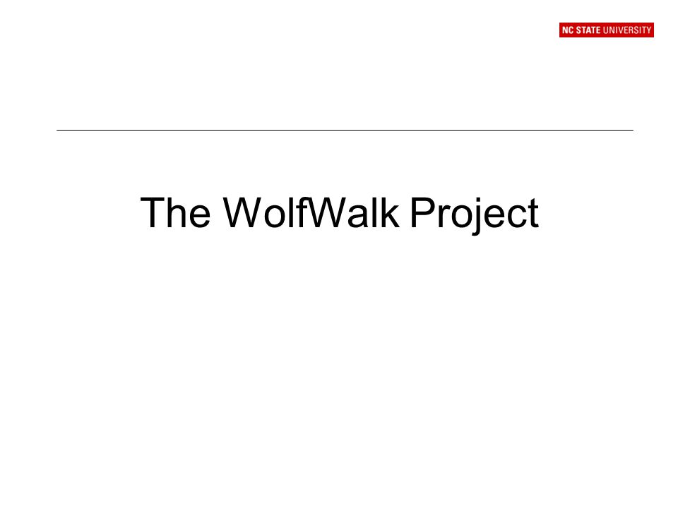 The WolfWalk Project