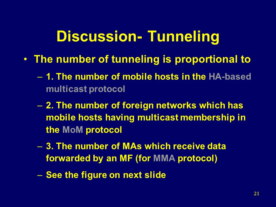 21 Discussion- Tunneling The number of tunneling is proportional to –1.
