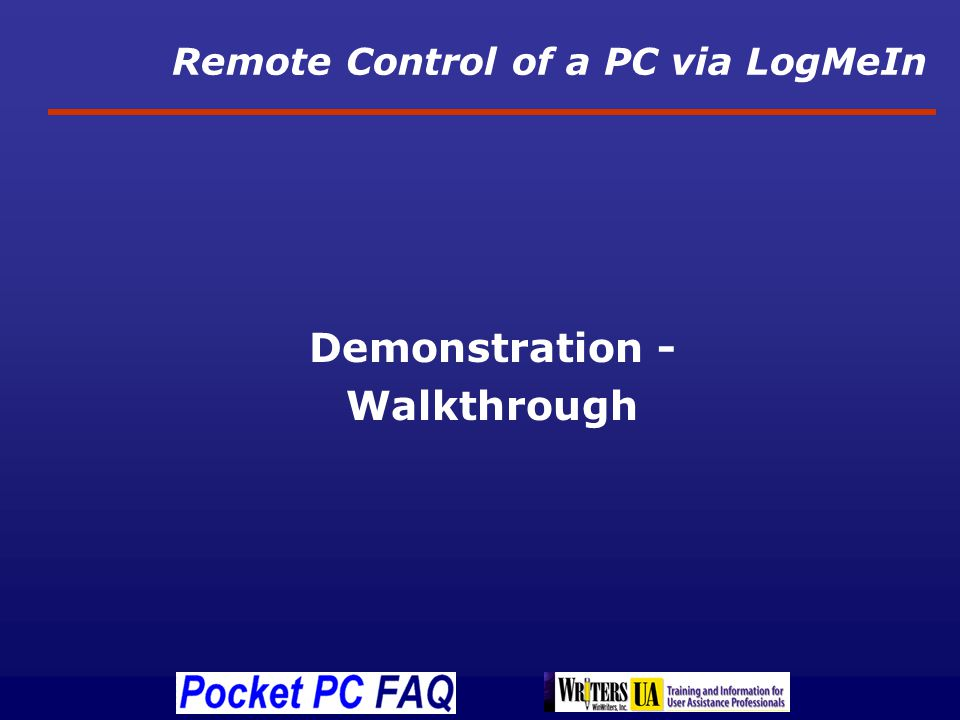 Remote Control of a PC via LogMeIn Demonstration - Walkthrough