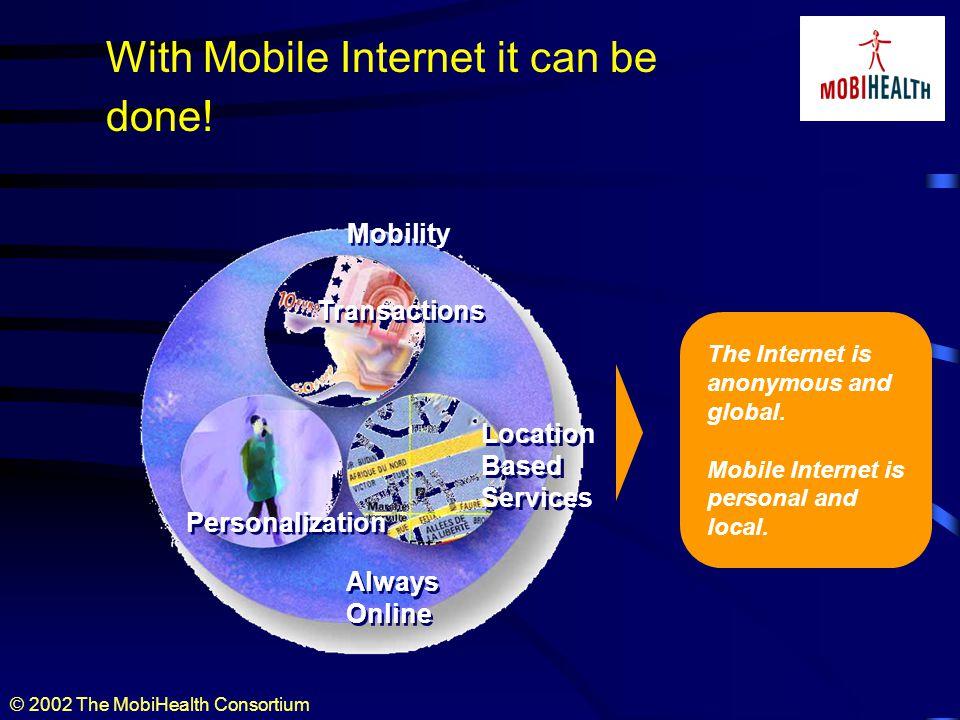 © 2002 The MobiHealth Consortium The dream... GPRS UMTS