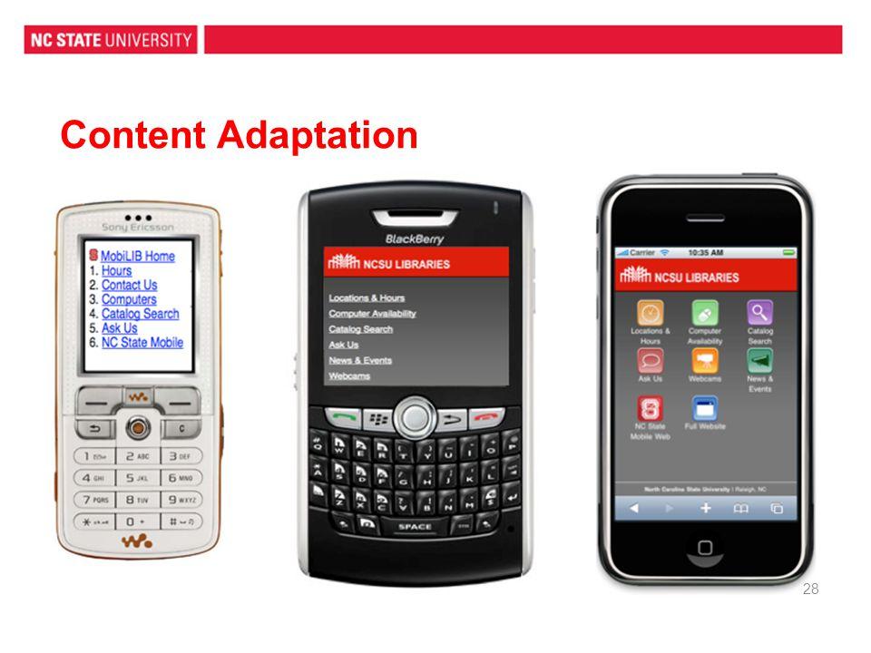 Content Adaptation 28