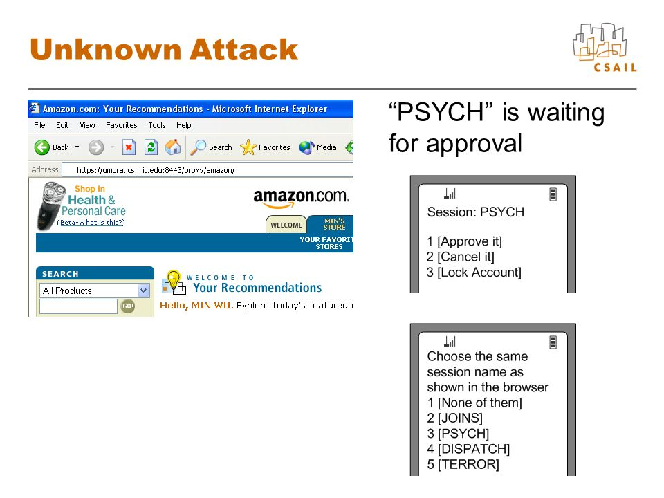 Unknown Attack PSYCH is waiting for approval