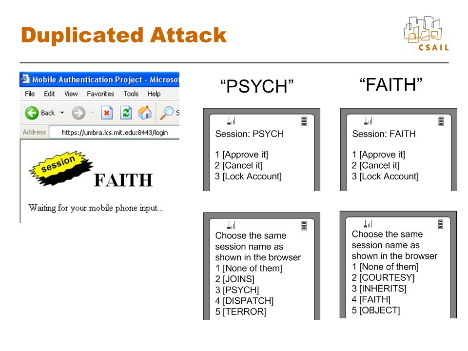 Duplicated Attack PSYCH FAITH