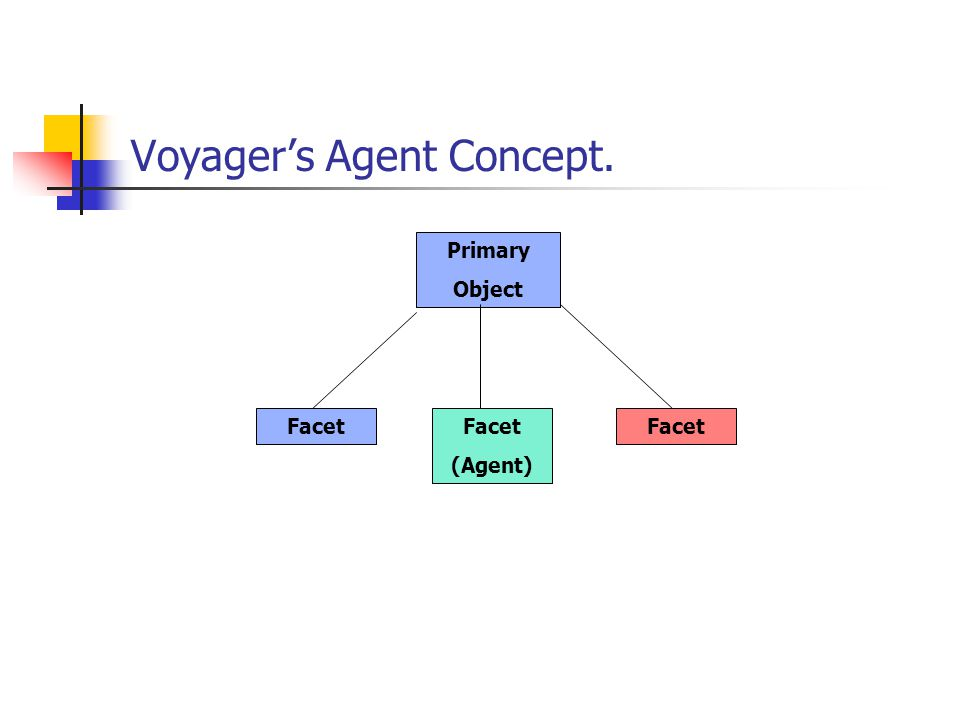 Voyagers Agent Concept. Primary Object Facet (Agent)