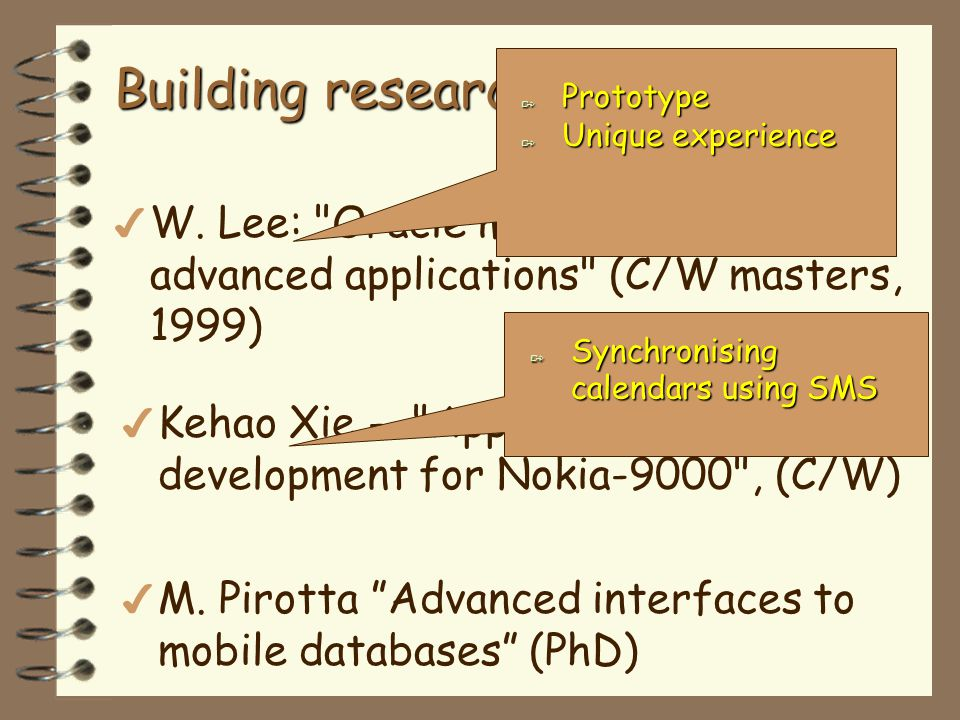 Building research group… more 4 P.