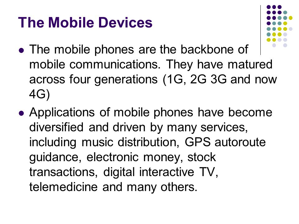 The Mobile Telephone A Mobile Telephone (also known as a Cellular Telephone) is defined as a portable electronic device for the purpose of telecommunications over long distances.