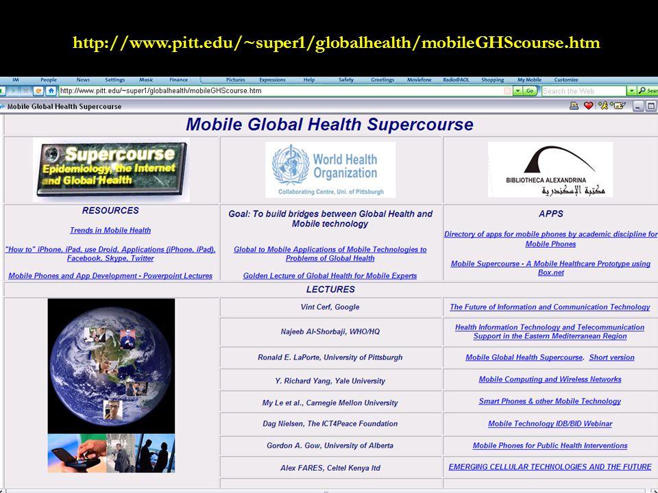 31 http://www.pitt.edu/~super1/globalhealth/mobileGHScourse.htm
