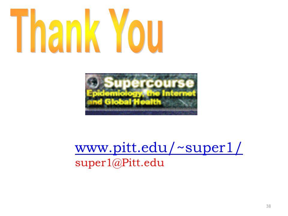38 www.pitt.edu/~super1/ super1@Pitt.edu