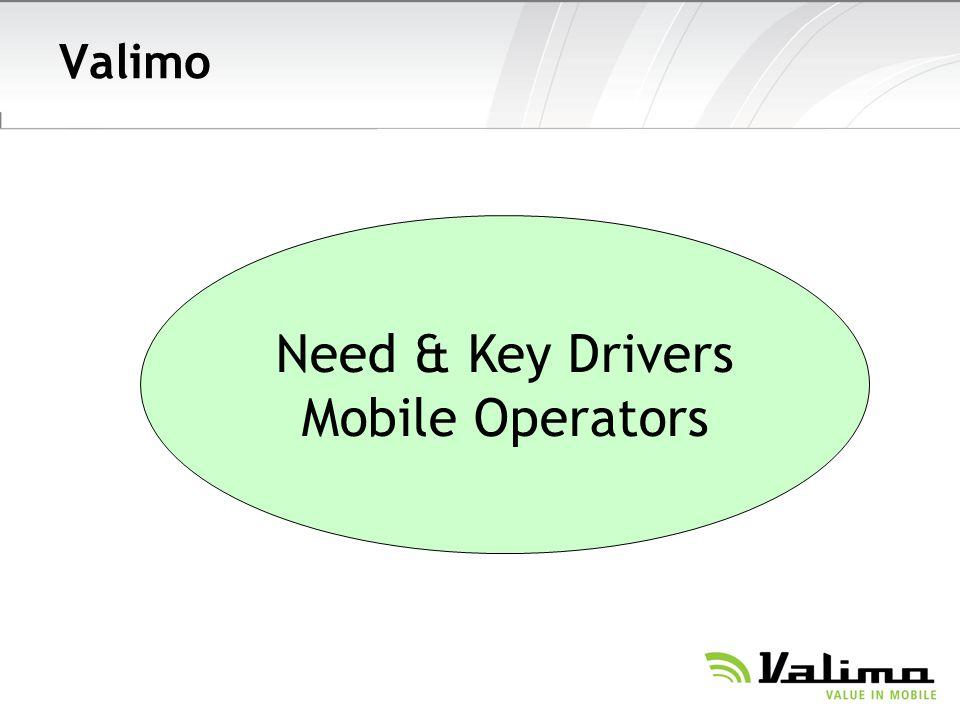 Valimo Need & Key Drivers Mobile Operators