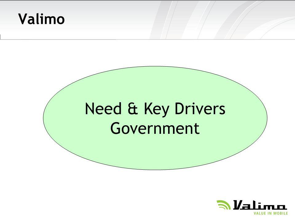 Valimo Need & Key Drivers Government