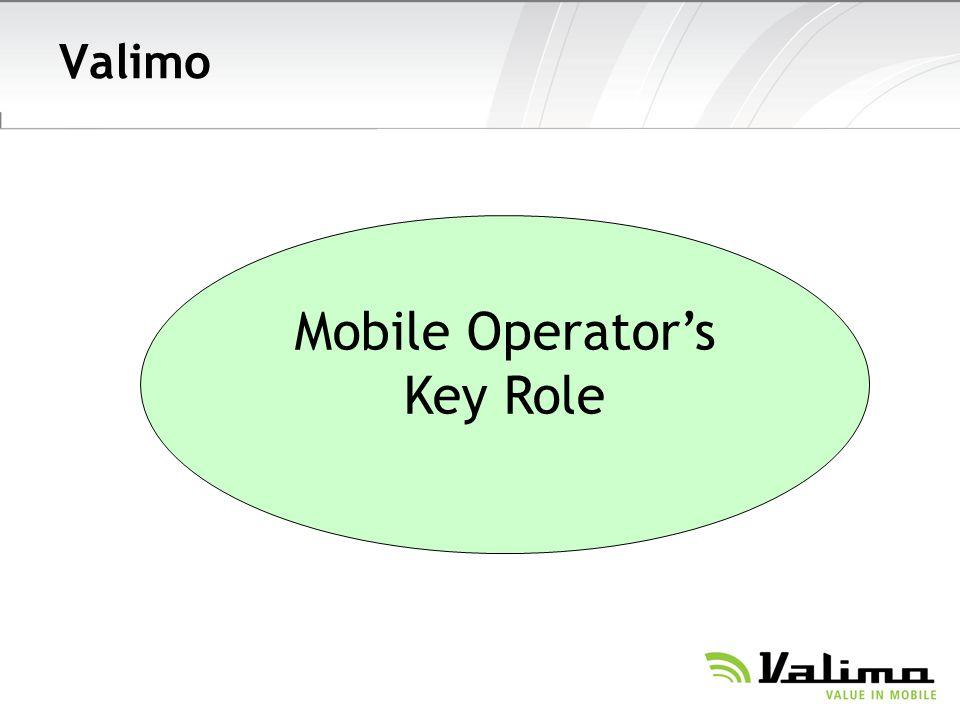 Valimo Mobile Operators Key Role