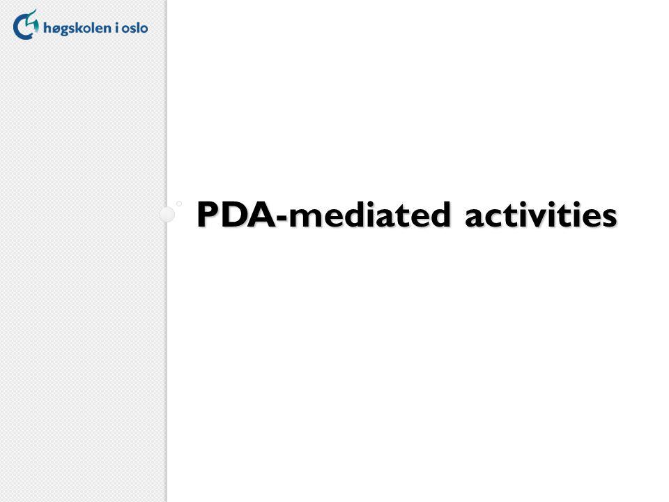 PDA-mediated activities