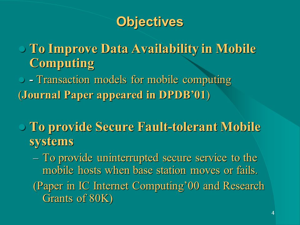 25 Mobile IP Entities Mobile Host (MH) - Changes its point of attachment to the internet from one link to another.