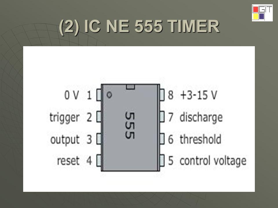 (2) IC NE 555 TIMER