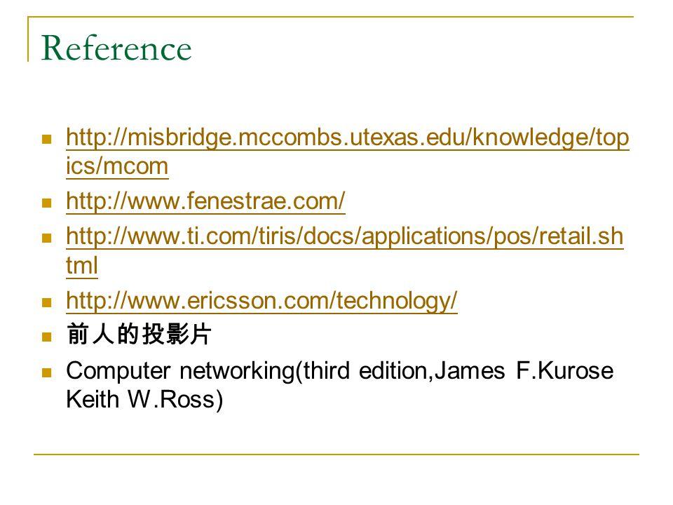 Reference http://misbridge.mccombs.utexas.edu/knowledge/top ics/mcom http://misbridge.mccombs.utexas.edu/knowledge/top ics/mcom http://www.fenestrae.c