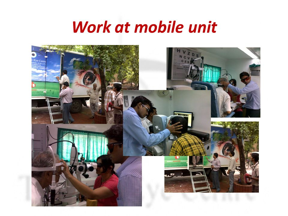 Work at mobile unit