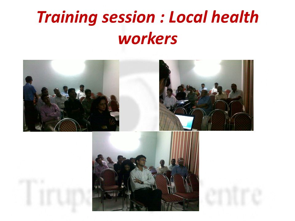 Training session : Local health workers