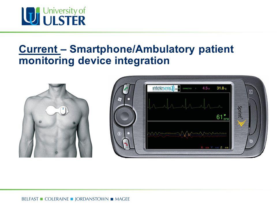 Current – Smartphone/Ambulatory patient monitoring device integration
