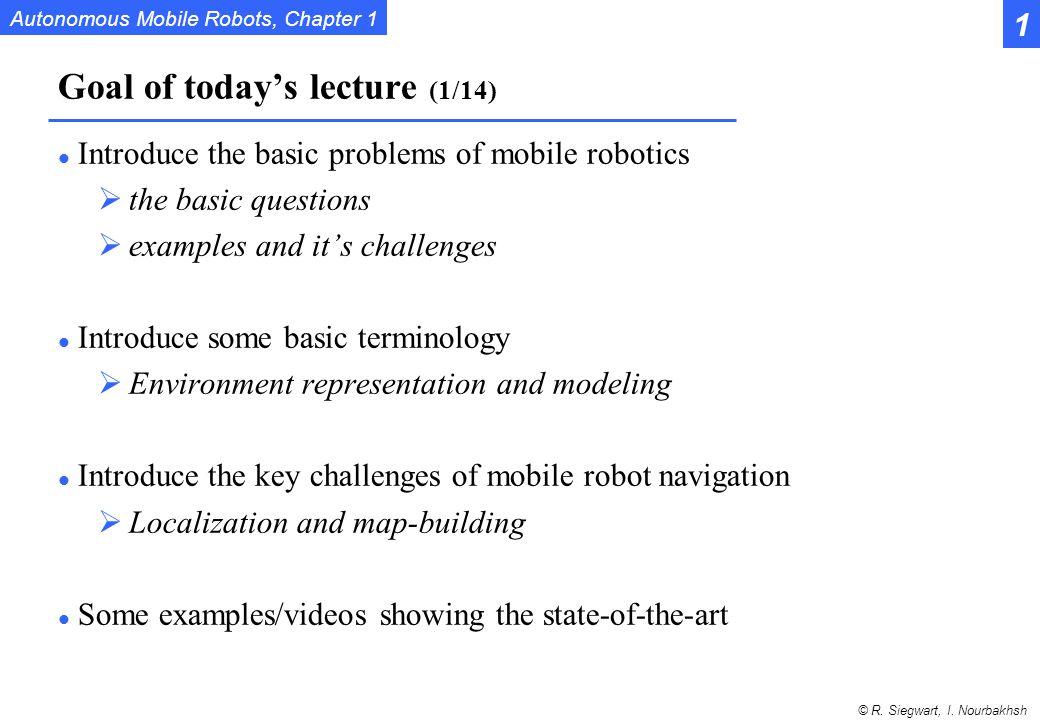 Autonomous Mobile Robots, Chapter 1 © R. Siegwart, I. Nourbakhsh Program