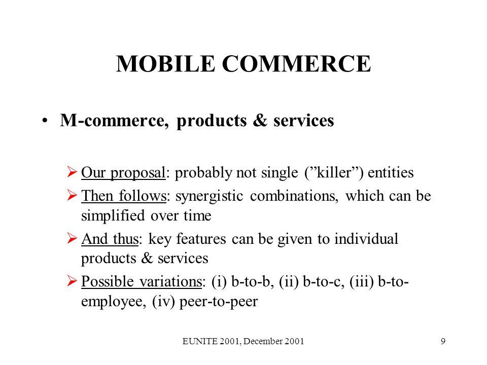 EUNITE 2001, December 200120 MOBILE ICT BUSINESS eProcess strategies [Keen].