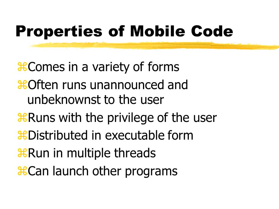 Mobile Code Trojans: Do you know what you are running.