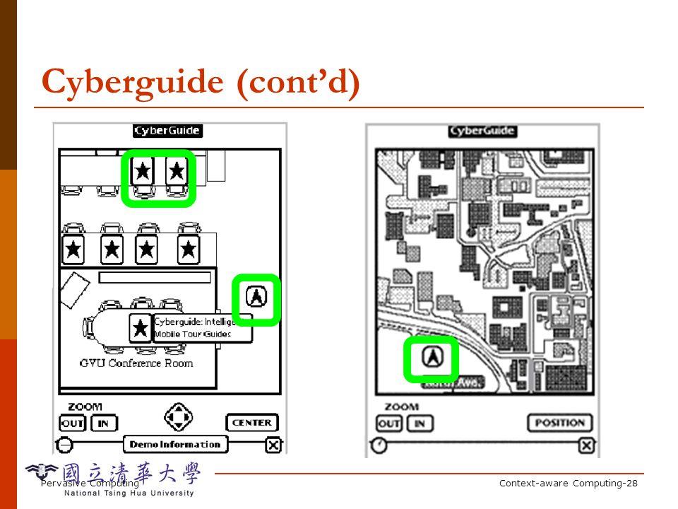 Pervasive ComputingContext-aware Computing-28 Cyberguide (contd)