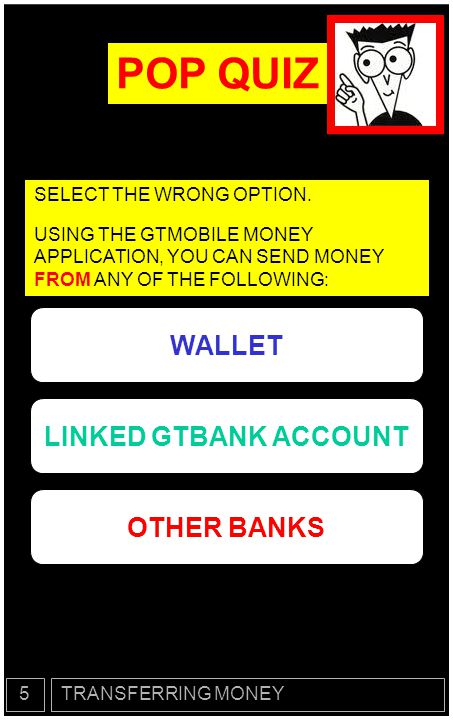 CONGRATULATIONS!.You have now successfully completed CHAPTER 5 (Sending Money).