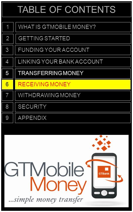 RECEIVING MONEY… In order to receive money you need to own a mobile phone OR a Bank Account and you can be either of the following: REGISTERED CUSTOMER UNREGISTERED CUSTOMER RECEIVING MONEY6