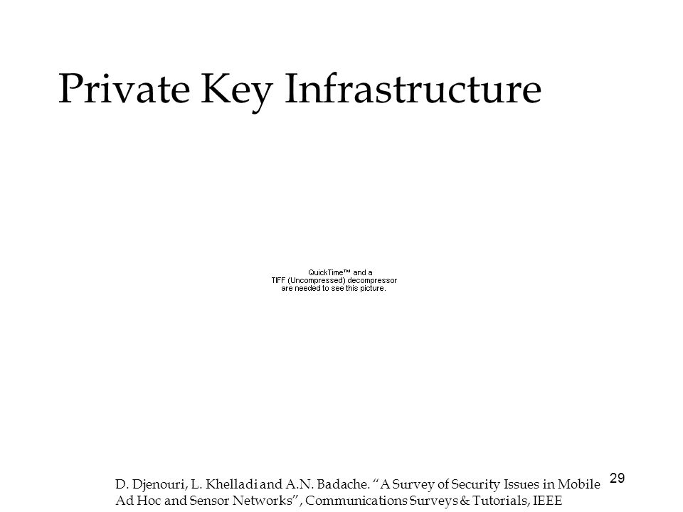 29 Private Key Infrastructure D. Djenouri, L. Khelladi and A.N.