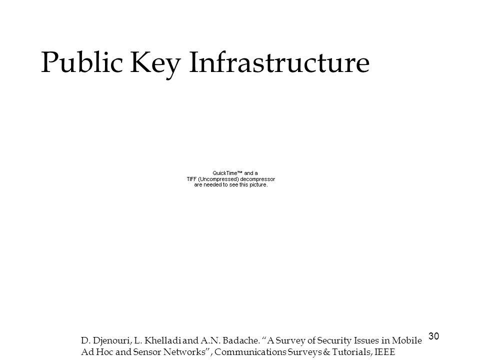 30 Public Key Infrastructure D. Djenouri, L. Khelladi and A.N.