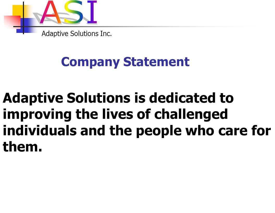 Adaptive Solutions Inc. ADAPTIVE SOLUTIONS, INC.