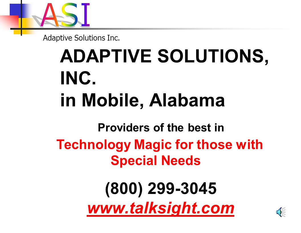 Adaptive Solutions Inc. Together as One Thank – You!!