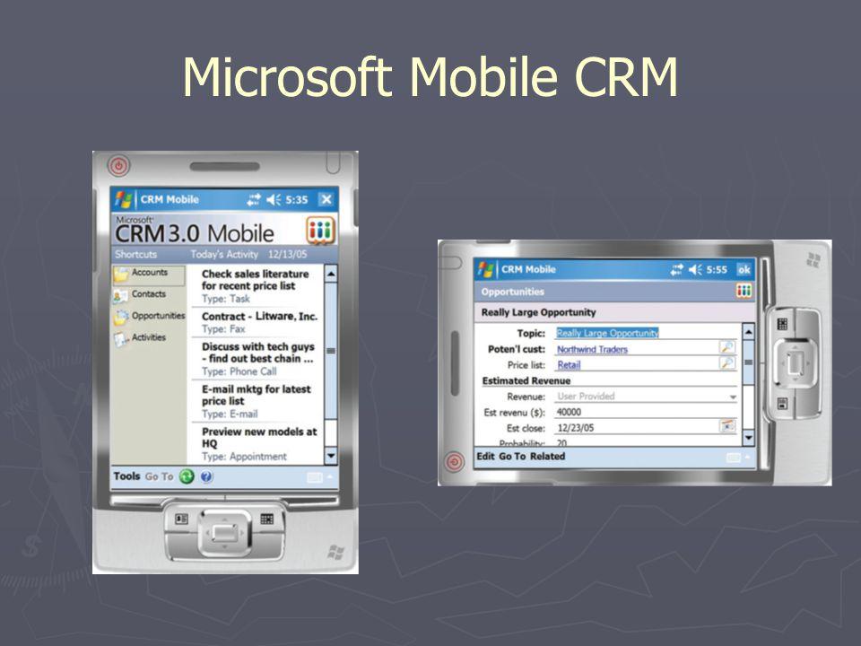 Microsoft Mobile CRM
