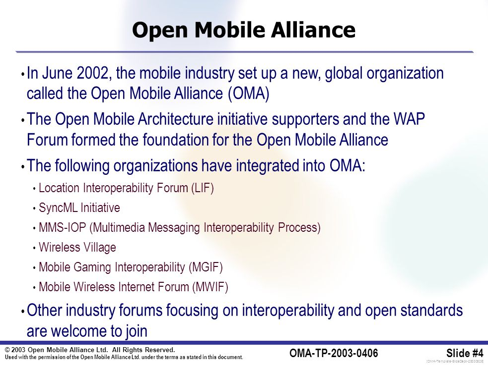 © 2003 Open Mobile Alliance Ltd. All Rights Reserved.