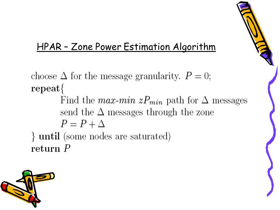 HPAR – Zone Power Estimation Algorithm