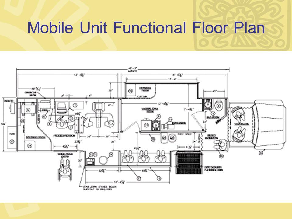Mobile Unit Functional Floor Plan