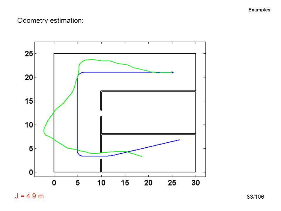 83/106 Examples Odometry estimation: J = 4.9 m