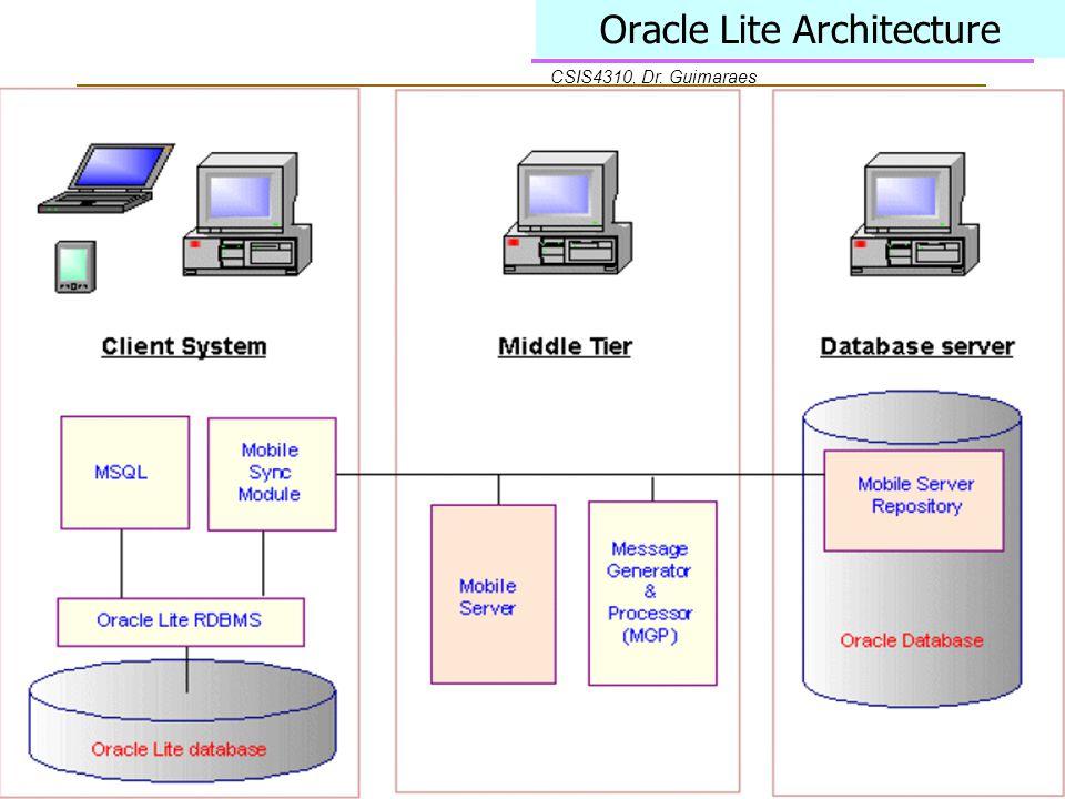 CSIS4310, Dr. Guimaraes Oracle Lite Architecture