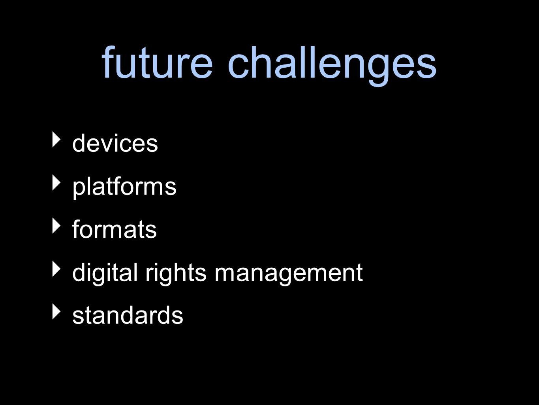 future challenges devices platforms formats digital rights management standards