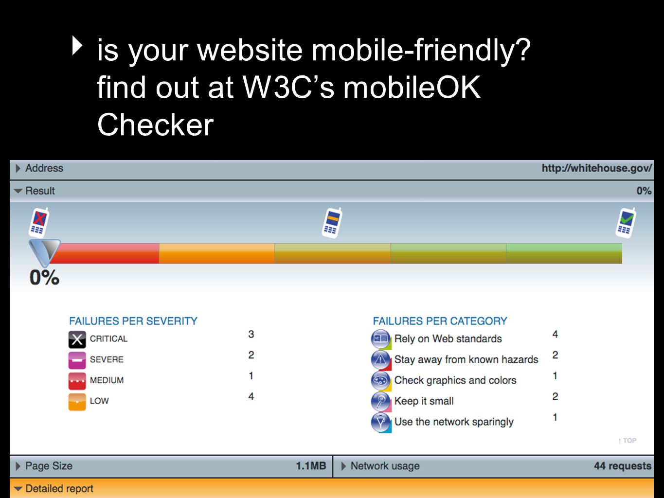 is your website mobile-friendly? find out at W3Cs mobileOK Checker