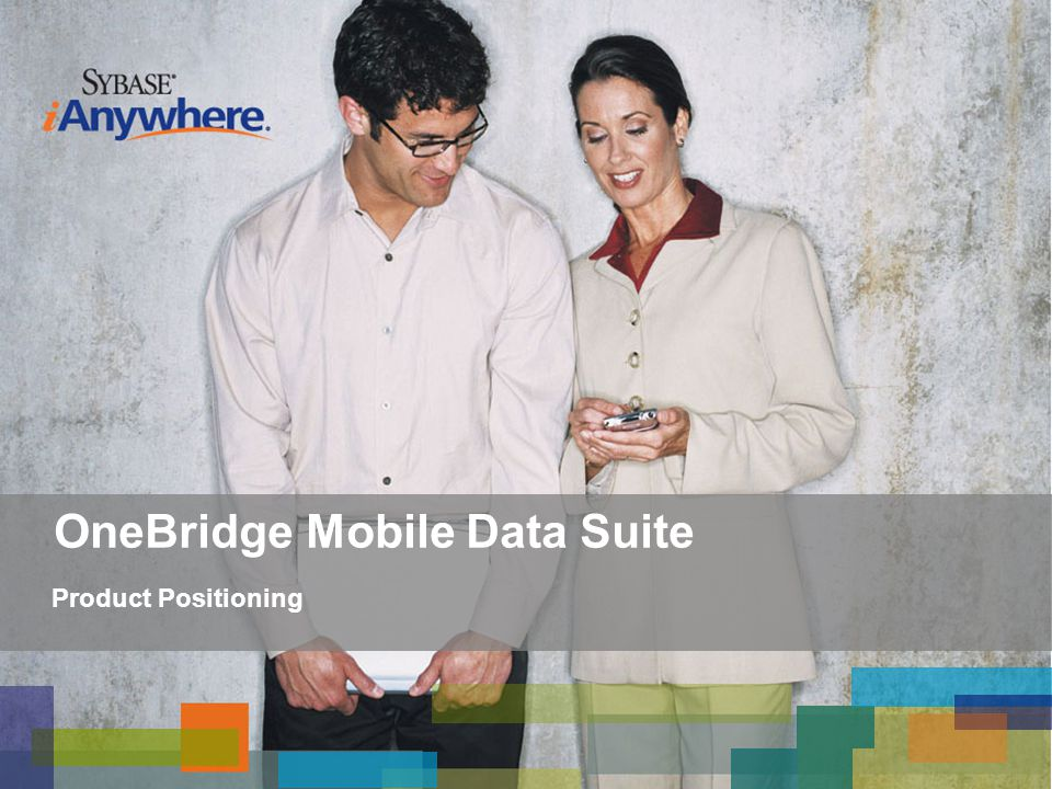OneBridge Mobile Data Suite Product Positioning
