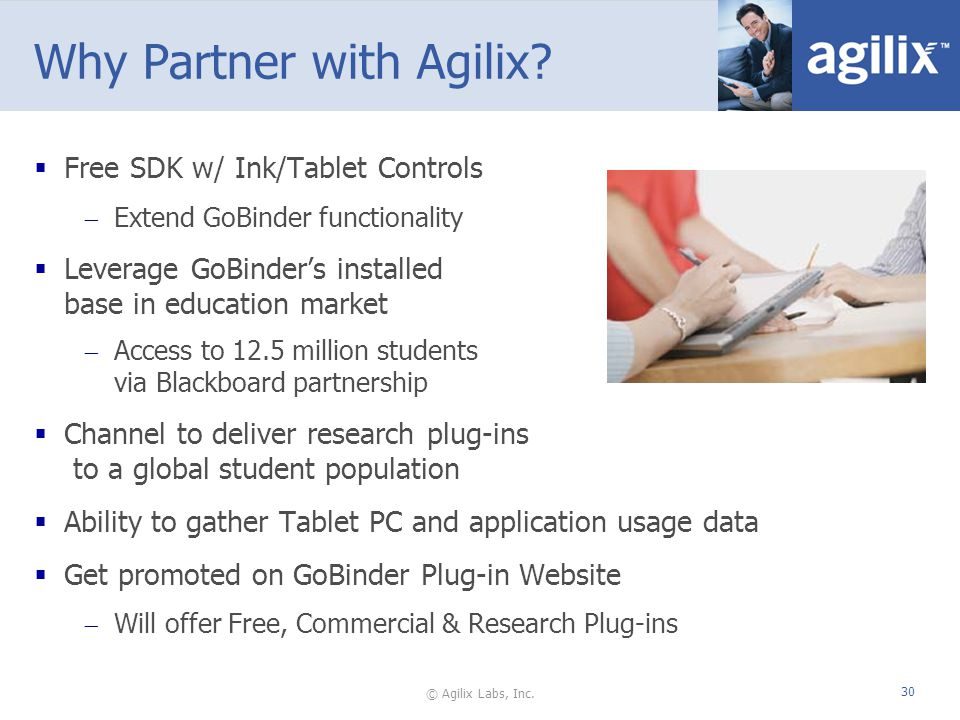 © Agilix Labs, Inc. 30 Why Partner with Agilix.