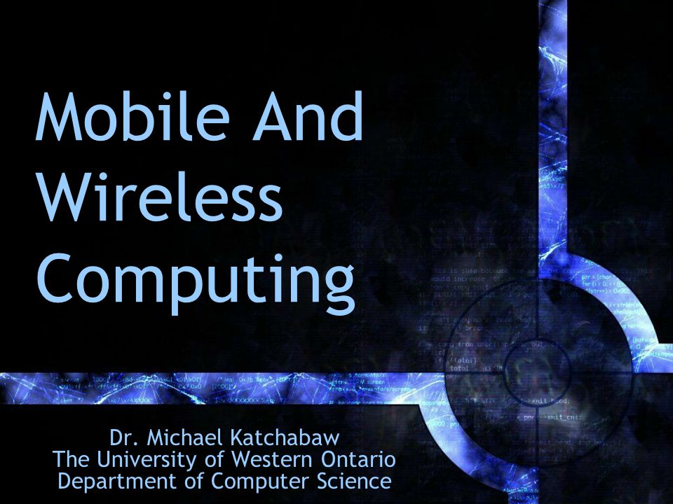 Outline Introduction Motivating Factors Mobile and Wireless Technology Problems and Issues Wireless at Western Concluding Remarks